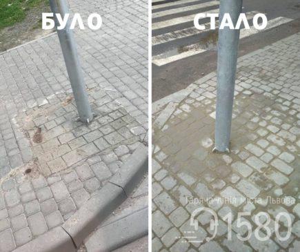 Read more about the article У Львові комунальники намалювали бруківку. Що відбулось насправді?