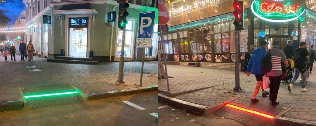 У центрі Одеси встановили LED-підсвітку пішохідних переходів