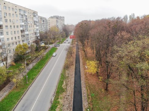 Read more about the article Оновлена пішохідна зона біля парку Дружби народів